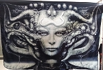 H.R. GIGER Li FLAG CLOTH POSTER WALL TAPESTRY Alien Prometheus