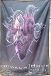 BROKEN HOPE Loathing FLAG CLOTH POSTER WALL DEATH METAL