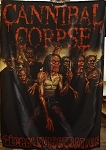 CANNIBAL CORPSE Global Evisceration FLAG CLOTH POSTER Death Metal