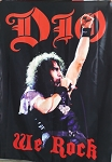 DIO We Rock FLAG CLOTH POSTER WALL TAPESTRY BANNER CD Hard Rock