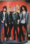 GUNS N' ROSES Band 6 FLAG BANNER CLOTH POSTER WALL TAPESTRY