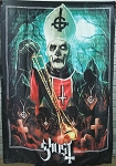 GHOST Pope Emeritus II FLAG CLOTH POSTER HEAVY METAL