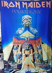 IRON MAIDEN Powerslave 3 FLAG CLOTH POSTER WALL TAPESTRY Heavy Metal