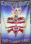 IRON MAIDEN The Clairvoyant FLAG CLOTH POSTER BANNER CD