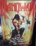 MANOWAR Agony and Ecstasy FLAG BANNER CLOTH POSTER WALL TAPESTRY CD Power Metal