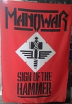 MANOWAR Sign of the Hammer FLAG BANNER CLOTH POSTER WALL TAPESTRY CD Power Metal