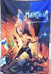 MANOWAR Warriors of the World FLAG BANNER CLOTH POSTER WALL TAPESTRY CD Power Metal