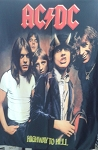 AC/DC Highway to Hell FLAG CLOTH POSTER WALL TAPESTRY