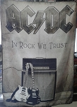 AC/DC In Rock We Trust FLAG CLOTH POSTER WALL TAPESTRY