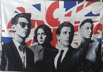 ARTIC MONKEYS Band Logo AM FLAG CLOTH POSTER WALL TAPESTRY INDIE ROCK