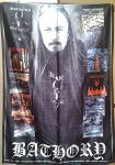 BATHORY Albums & Quorthon FLAG CLOTH POSTER WALL TAPESTRY BANNER Black Metal