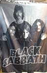 BLACK SABBATH Early Band 2 Paranoid Ozzy FLAG CLOTH POSTER WALL TAPESTRY