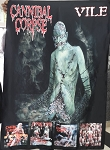 CANNIBAL CORPSE Vile w/CDs FLAG CLOTH POSTER WALL TAPESTRY Death Metal