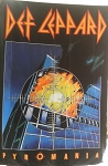 DEF LEPPARD Pyromania FLAG CLOTH POSTER WALL TAPESTRY Heavy Metal