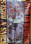 GUNS N' ROSES Appetite for Destruction 2 FLAG BANNER CLOTH POSTER