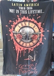 GUNS N' ROSES Not in this Lifetime Tour 2016 Lima Peru 2 FLAG BANNER CLOTH POSTER