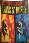 GUNS N' ROSES Use Your Illusion 1 2 FLAG BANNER CLOTH POSTER WALL TAPESTRY