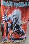 IRON MAIDEN A Real Live One FLAG CLOTH POSTER WALL TAPESTRY Heavy Metal