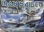 IRON MAIDEN Flight 666 FLAG CLOTH POSTER WALL TAPESTRY Heavy Metal
