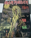 IRON MAIDEN Killers FLAG CLOTH POSTER WALL TAPESTRY Heavy Metal