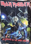 IRON MAIDEN No Prayer On The Road 1990/91 FLAG CLOTH POSTER WALL TAPESTRY Heavy Metal