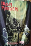 IRON MAIDEN Running Free FLAG CLOTH POSTER WALL TAPESTRY Heavy Metal