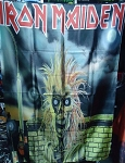 IRON MAIDEN Selftitled First LP FLAG CLOTH POSTER WALL TAPESTRY Heavy Metal