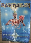 IRON MAIDEN Seventh Son FLAG CLOTH POSTER WALL TAPESTRY Heavy Metal
