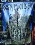 IRON MAIDEN Somewhere Back in Time FLAG CLOTH POSTER WALL TAPESTRY Heavy Metal