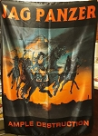 JAG PANZER Ample Destruction FLAG CLOTH POSTER WALL TAPESTRY CD Heavy Metal