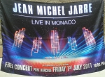 JEAN-MICHEL JARRE Live in Monaco FLAG CLOTH POSTER WALL TAPESTRY BANNER