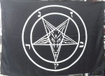 Baphomet Goat Pentagram Devil Flag Cloth Poster Wall Tapestry Pagan Satan