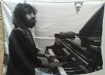 VANGELIS Earth Olympia Concert 1974 FLAG CLOTH POSTER WALL TAPESTRY BANNER