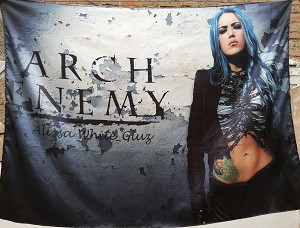 ARCH ENEMY Alissa White-Gluz FLAG CLOTH POSTER BANNER
