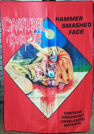 CANNIBAL CORPSE Hammer Smashed Face FLAG CLOTH POSTER WALL TAPESTRY Death Metal