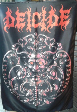DEICIDE First Album FLAG CLOTH POSTER TAPESTRY DEATH METAL