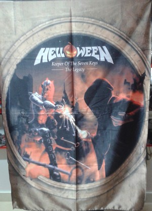HELLOWEEN Keeper of the Seven Keys - The Legacy (Vertical) FLAG CLOTH POSTER Power Metal
