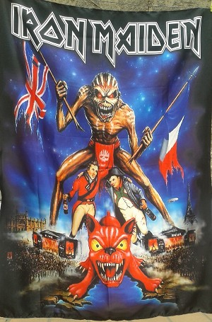 IRON MAIDEN Download Festival FLAG CLOTH POSTER WALL TAPESTRY Heavy Metal