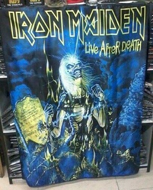IRON MAIDEN Live After Death FLAG CLOTH POSTER WALL TAPESTRY Heavy Metal