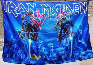 IRON MAIDEN Maiden England 2014 FLAG CLOTH POSTER WALL TAPESTRY Heavy Metal