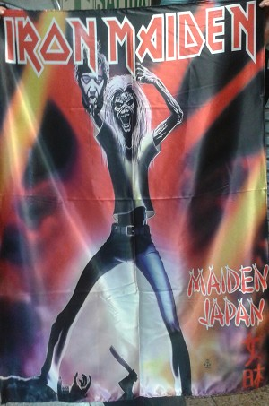 IRON MAIDEN Maiden Japan - Venezuela Edit FLAG CLOTH POSTER WALL TAPESTRY Heavy Metal