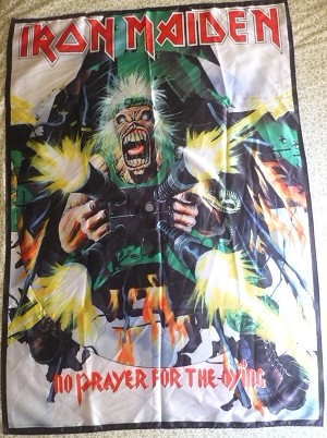 IRON MAIDEN No Prayer for the Dying FLAG CLOTH POSTER WALL TAPESTRY Heavy Metal
