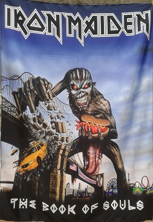 IRON MAIDEN The Book of Souls - New York FLAG CLOTH POSTER BANNER CD