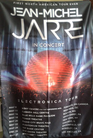 JEAN-MICHEL JARRE Electronica Tour USA 2017 FLAG CLOTH POSTER