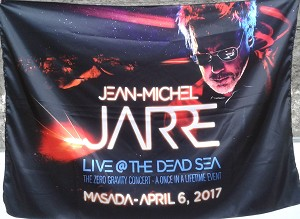 JEAN-MICHEL JARRE Live @ the Dead Sea 2017 Masada Zero Gravity FLAG CLOTH POSTER